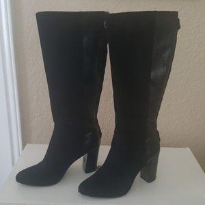 Anne Klein Suede Black Boots